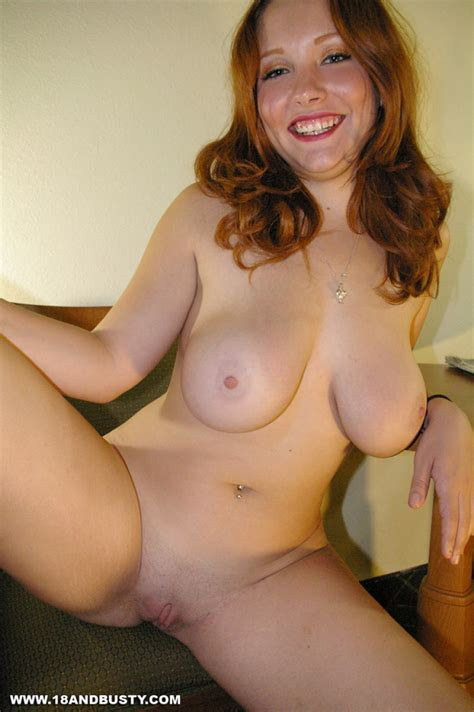 Busty Redhead Teen With Lovely Curves Shows Pink