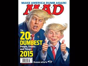 Donald trump tops mad magazine s dumbest people of 2015