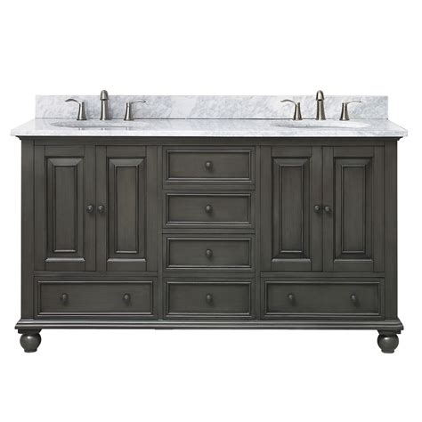 Bathroom Vanity Combos Sale by Thompson Charcoal Glaze 61 Inch Vanity Combo Avanity
