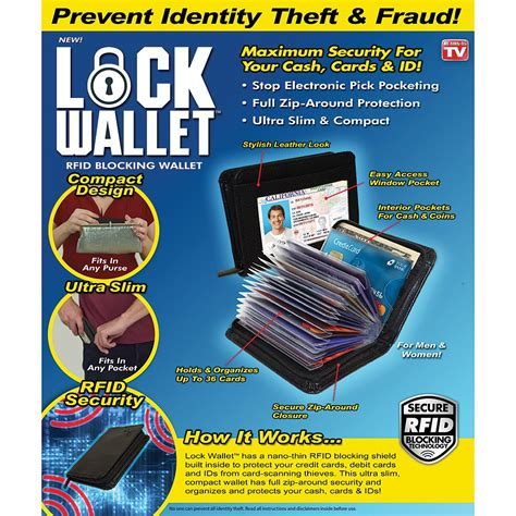 Wallet Dompet Kartu by Lock Wallet Dompet Kartu Kredit Secure Rfid Blocking