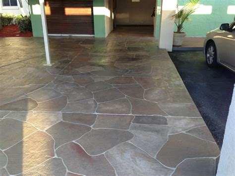 Painting Patio Concrete by Concrete Designs Florida Concrete Painting