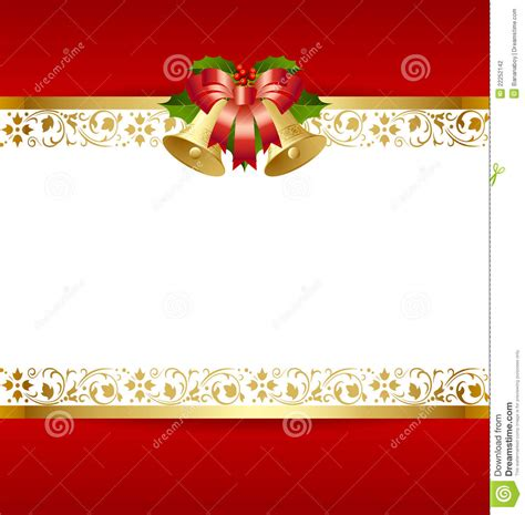 christmas card template stock vector illustration
