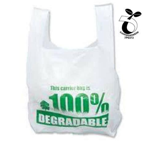 biodegradable bags biodegradable vest carrier bags w en13432 certificate no 7p0373 view plastic