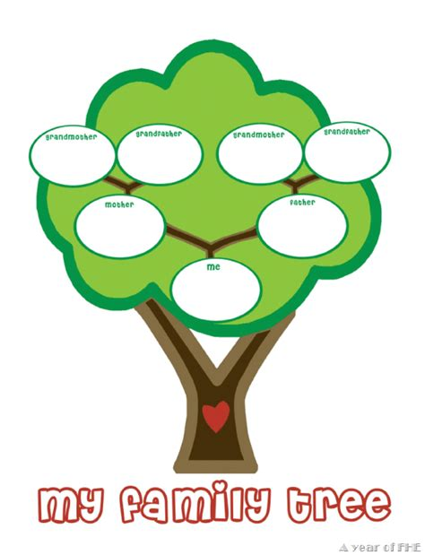 family tree template for kindergarten family tree template family tree templates for kindergarten
