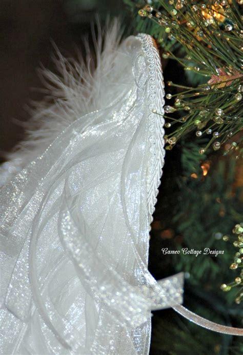 hometalk diy angelic organdy ribbon angel wings
