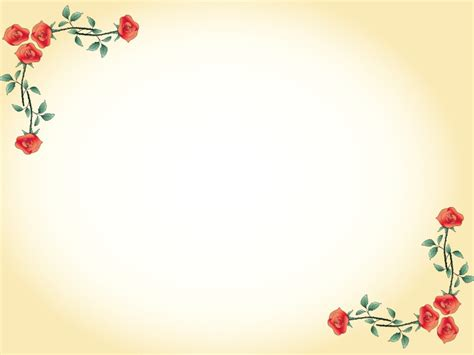Red Flowers Border Powerpoint Templates Border Frames Flowers Red Yellow Free Ppt Powerpoint Flower Background
