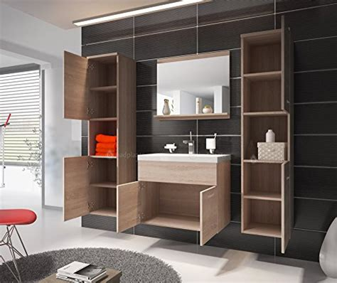 badezimmer unterschrank sonoma eiche badezimmer badm 246 bel montreal xl 60 cm waschbecken sonoma
