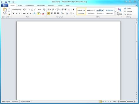 Microsoft Word 2010 Pantalla De Microsoft Word 2010