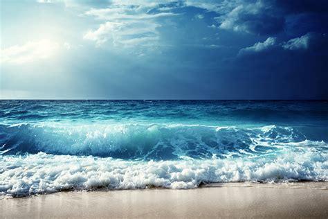 sky sea waves horizon  hd nature  wallpapers images