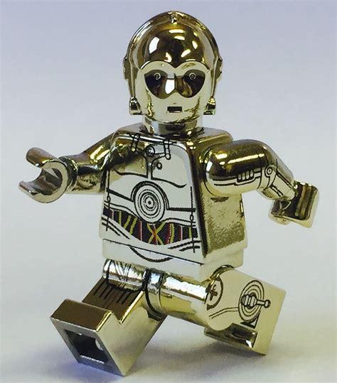 C3po Arm Minifigure Starwars custom lego wars minifigure chrome gold c 3po side