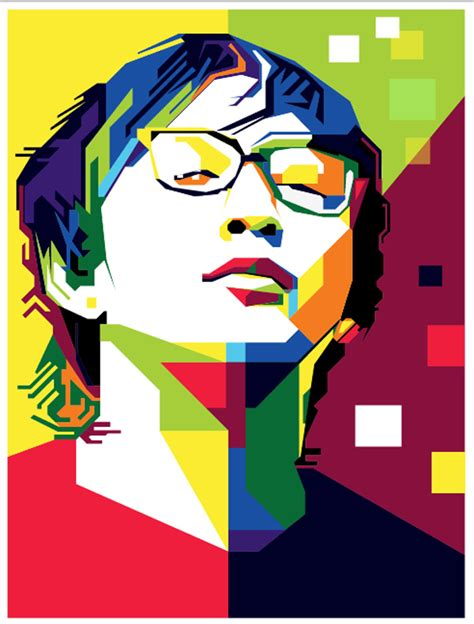 tutorial wpap menggunakan photoshop wpap art portrait illustrations tutorials inspiration