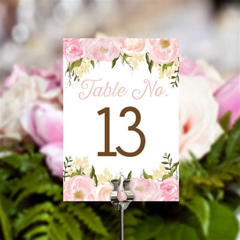 floral table numbers craftbnb