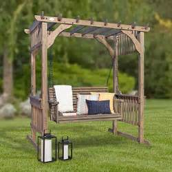 Backyard Discovery Hanging Pergola Swing Backyard Discovery Hanging Pergola Swing In Barnstain