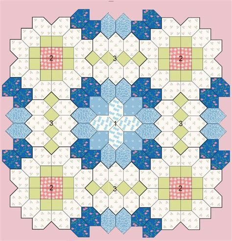 Hexagon Templates For Patchwork - patchwork of the crosses quilts beginners epp coffin