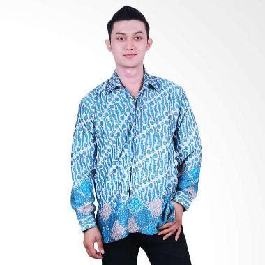 Kemeja Osella Hawai Biru jual batik putri ayu lengan panjang kpj14 kemeja batik biru harga kualitas