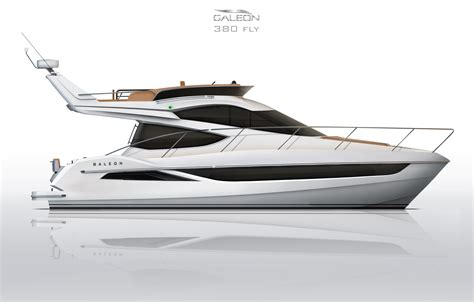 galloping across the sea in the new galeon 380 flybridge - Sides On Boat