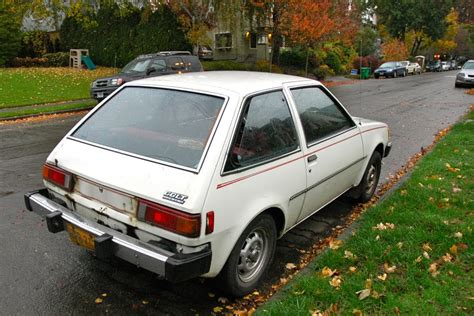 mitsubishi fiore hatchback parked cars 1983 plymouth colt