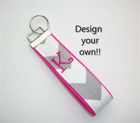 Design Your Own Wristlets At Tmstudiodesigns by Key Fob Keychain Wristlet Initial Monogram On Your