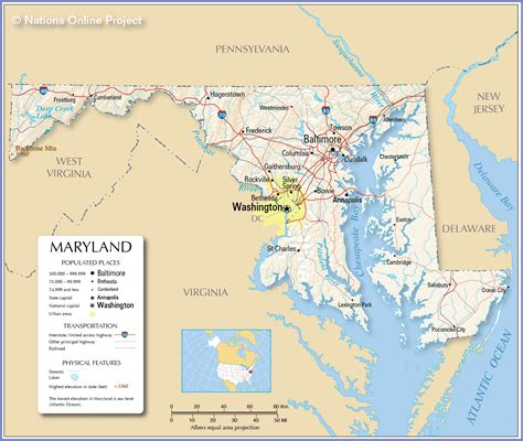 map us maryland maps usa map of maryland