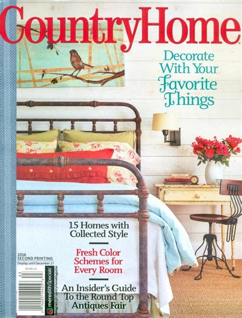 country home magazine 2016 second printing