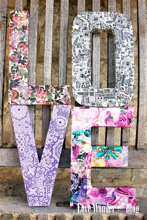 Decoupage Cardboard Letters - 25 best decoupage ideas on mod podge ideas