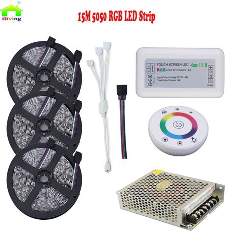 ge led strip light kit 12 15m 5050 60led 20m rgb waterproof christmas dc12v led