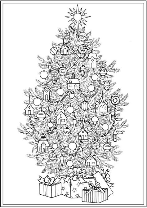christmas tree coloring page for adults christmas tree coloring pages for adults 2018 dr odd