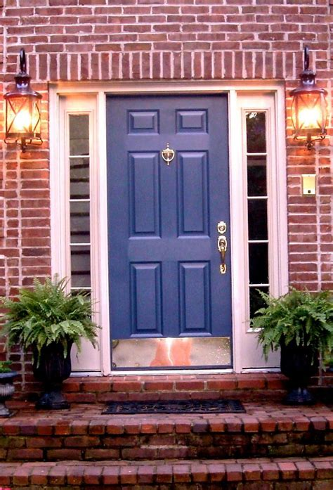brick house door colors door i this color blue and here s some other blue front