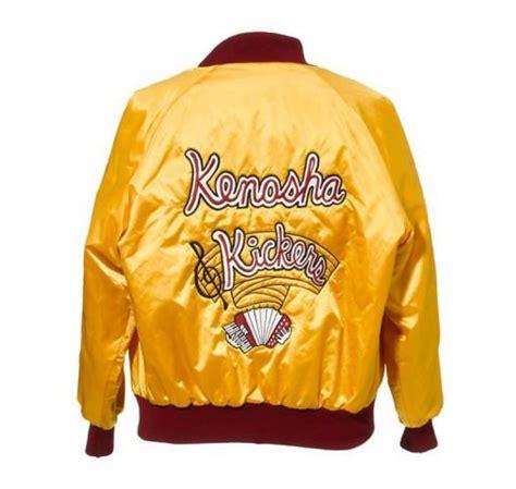 Raglan Kic Kers kenosha kickers embroidered yellow satin replica