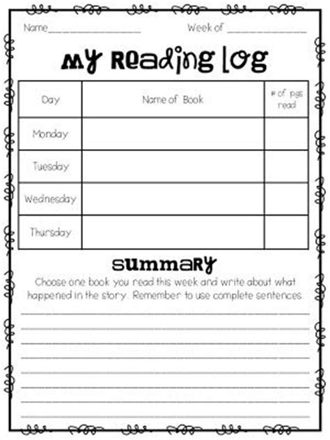printable reading log 2nd grade homework tips and ideas and a free reading log