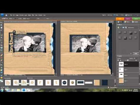 layout photoshop elements creating a digital scrapbook layout in photoshop elements