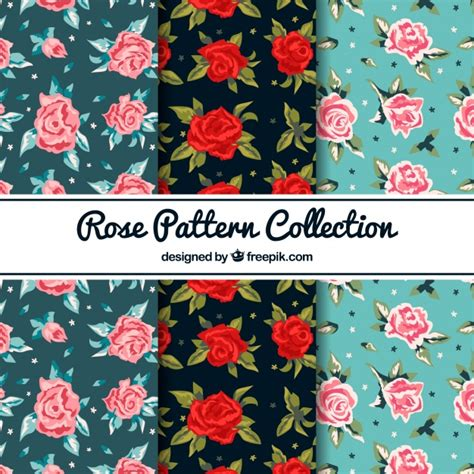 download pattern rose rose pattern collection vector free download