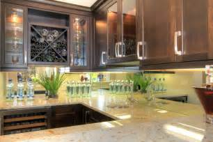 mirror backsplash in kitchen mirror or glass backsplash the glass shoppe a division