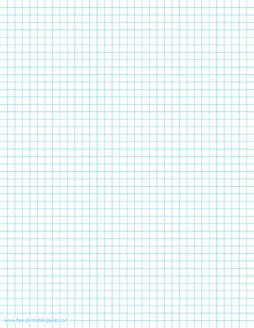 Quarter Inch Graph Paper Template