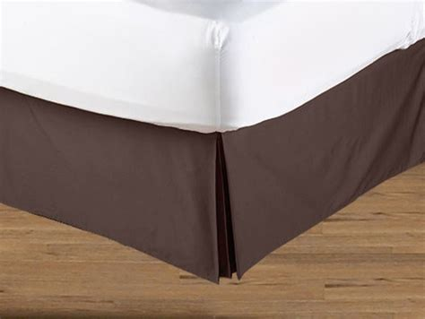 bed skirts king size blue and brown geo collection bed skirt solid brown