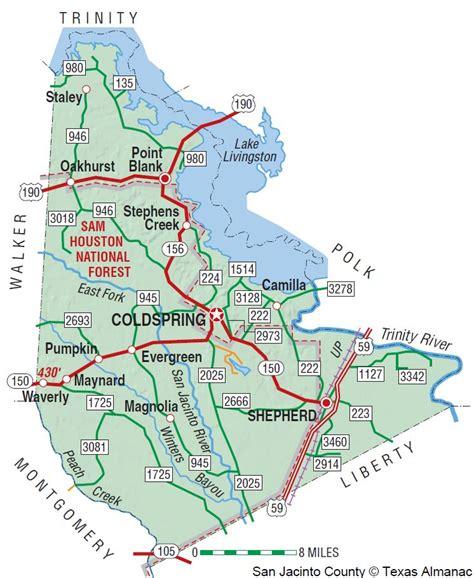 san jacinto texas map san jacinto county the handbook of texas texas state historical association tsha
