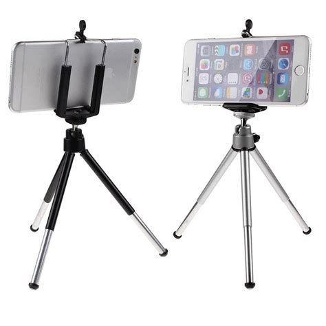 Universal Mini Tripod With Holder Smartphone Traveling Trip T0310 universal 360 176 rotatable cell phone stand tripod holder for smartphone gps ebay