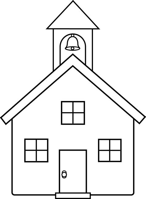 school house outline clipartsco