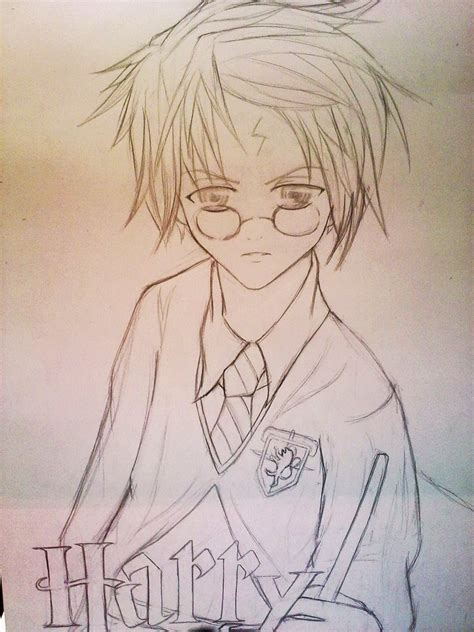 anime drawings harry potter anime ver sketch by ritunes on deviantart