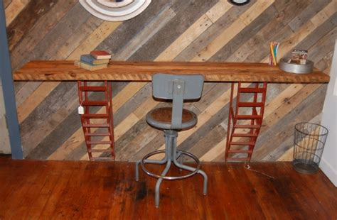 Desk Furniture For Home by Yellow Chair Market 187 Repurposed Wall Desk