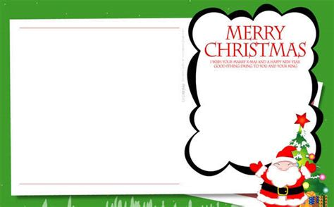 free santa card templates free children s card templates merry
