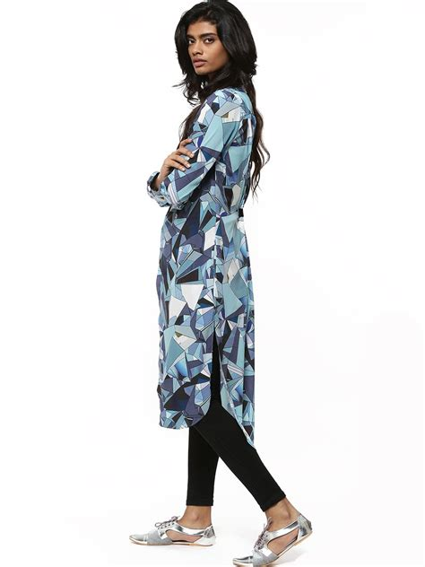 Maxi Blouse buy broken glass print maxi blouse for s