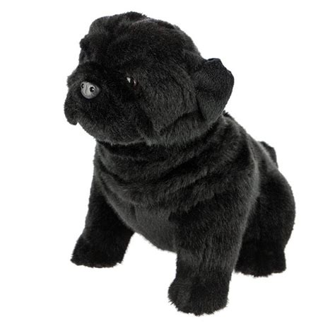 black pug soft black pug soft plush stuffed animal by bocchetta oreo 11 quot 28cm new