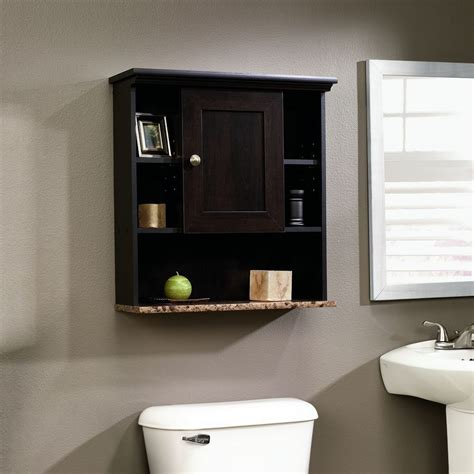 bathroom storage cabinet wood over toilet shelf medicine