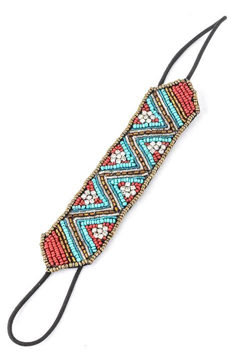 hair pattern zig zag seed bead zig zag headband hair accessories