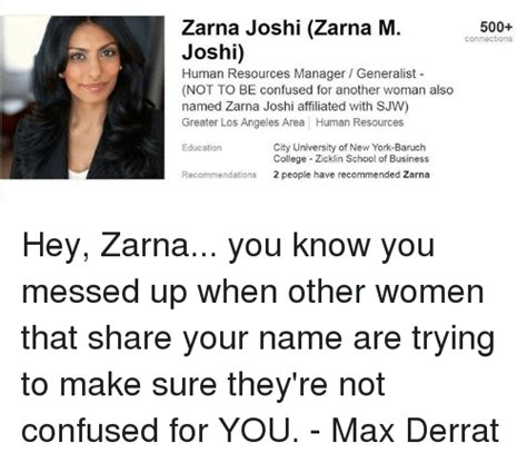 Baruch Mba Human Resources by 25 Best Memes About Zarna Joshi Zarna Joshi Memes