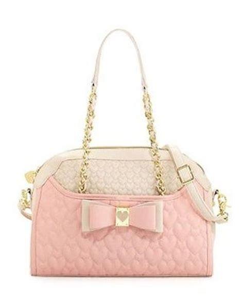 blush colored purses betsey johnson handbag be my honey buns dome satchel