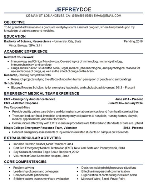 medical resume objective best resume gallery