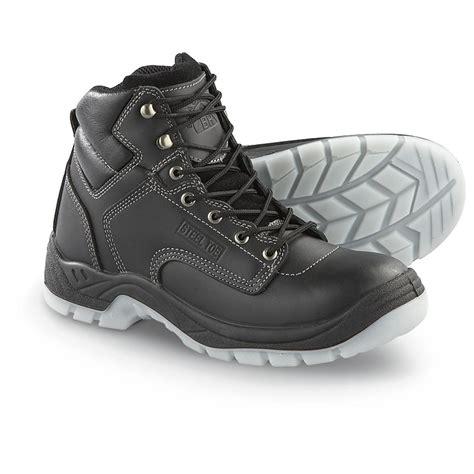 mens black steel toe work boots s black rock 174 6 quot steel toe contractor work boots