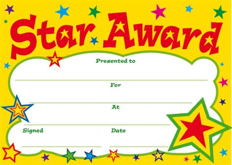 printable star of the day certificates award gif find share on giphy